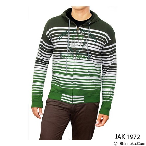 GUDANG FASHION Jaket Outdoor [JAK 1972-A] - Green Combination - Jaket Casual Pria