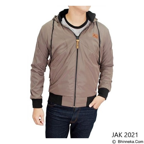 GUDANG FASHION Jaket Parasut  [JAK 2021-A] - Light Brown - Jaket Outdoor Pria