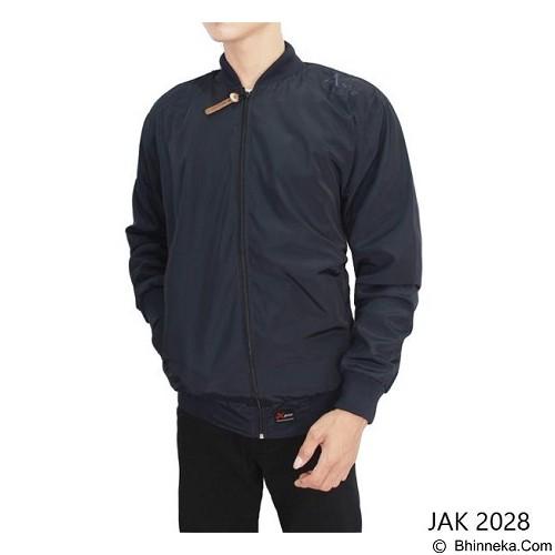 GUDANG FASHION Jaket Parasut Pria [JAK 2028-A] - Dark Blue - Jaket Outdoor Pria