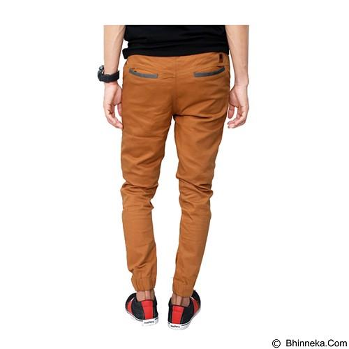 GUDANG FASHION Jogger Distro Pants Size 30 [CLN 615] - Brown - Celana Panjang Pria