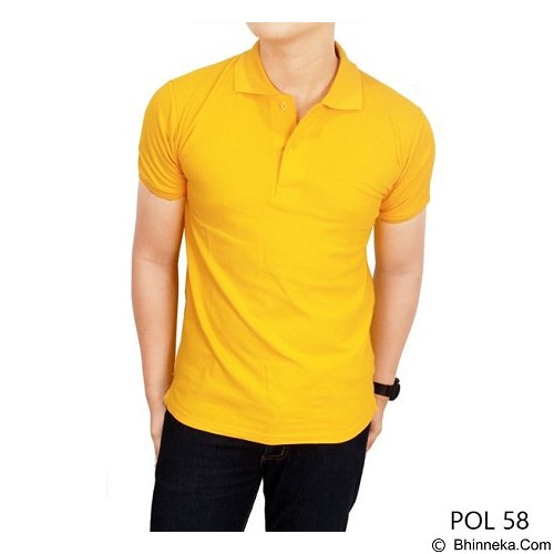 GUDANG FASHION Kaos Polos Kerah Size L [POL 58-L] - Yellow Gold - Polo Pria