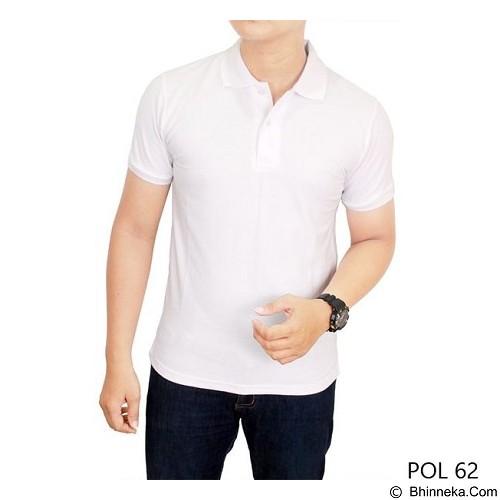 GUDANG FASHION Kaos Polos Kerah Size L [POL 62-L] - White - Polo Pria