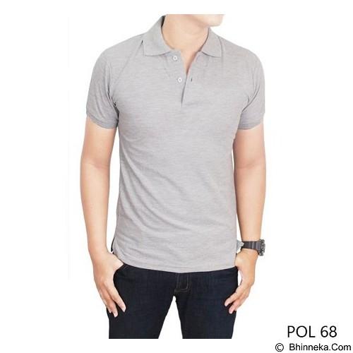 GUDANG FASHION Kaos Polos Kerah Size L [POL 68-L] - Misty - Polo Pria