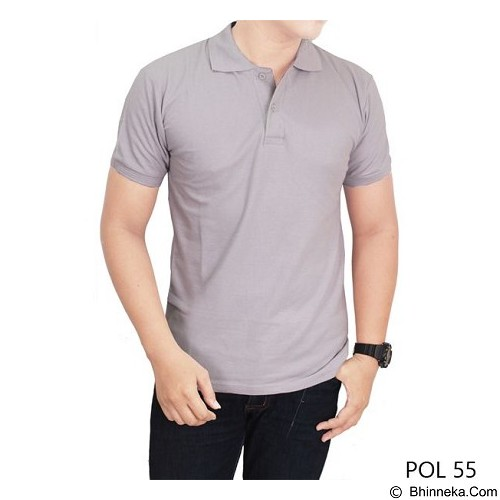 GUDANG FASHION Kaos Polos Kerah Size M [POL 55-M] - Light Grey