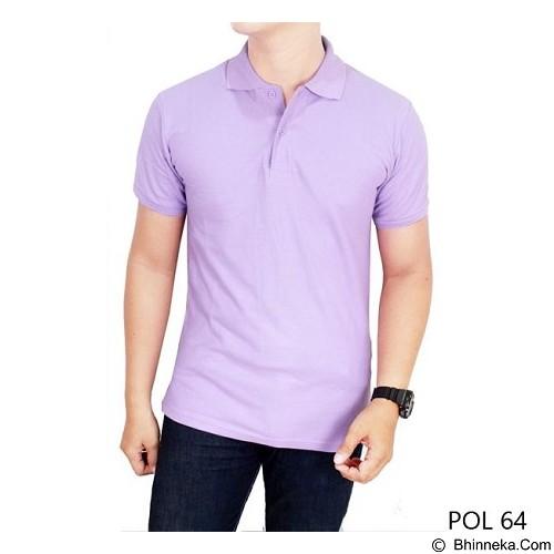 GUDANG FASHION Kaos Polos Kerah Size S [POL 64-S] - Ligth Purple - Polo Pria