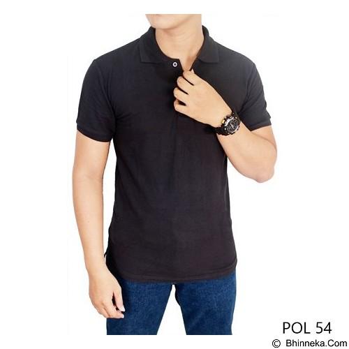 GUDANG FASHION Kaos Polos Kerah Size XL [POL 54-XL] - Dark Grey - Polo Pria