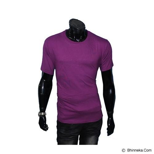 GUDANG FASHION Kaos Polos O-neck Size M [POL 09-M] - Dark Purple - Kaos Pria