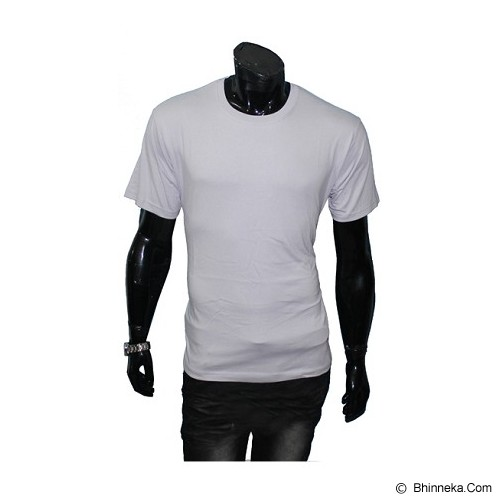 GUDANG FASHION Kaos Polos O-neck Size XL [POL 02-XL] - Light Grey - Kaos Pria
