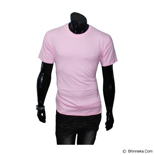 GUDANG FASHION Kaos Polos O-neck Size XL [POL 08-XL] - Light Pink - Kaos Pria