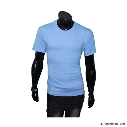 GUDANG FASHION Kaos Polos O-neck Size XL [POL 16-XL] - Light Blue - Kaos Pria