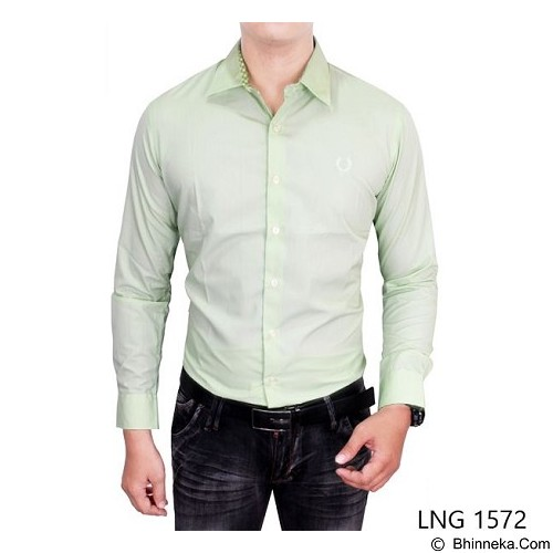 GUDANG FASHION Long Sleeved Formal Shirts Size L [LNG 1572-L] - Light Green - Kemeja Lengan Panjang Pria