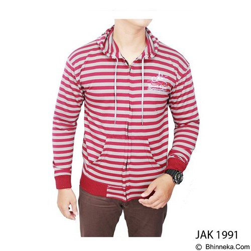 GUDANG FASHION Men'S Fashion Jacket [JAK 1991-A] - Red Combin ation - Jaket Casual Pria