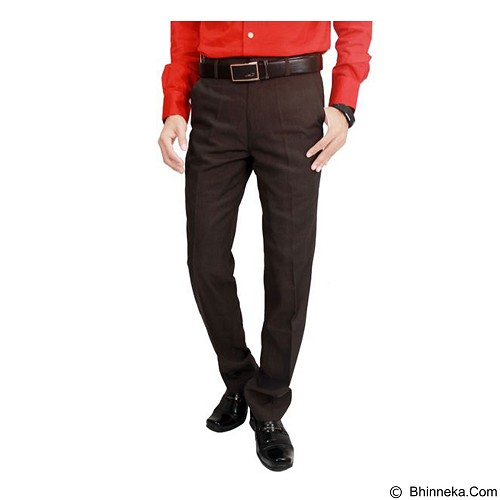 GUDANG FASHION Men'S Suit Long Pants Trousers Size 31 [CLN 873] - Dark Brown - Celana Panjang Pria