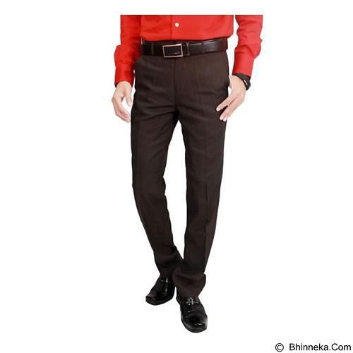 GUDANG FASHION Men'S Suit Long Pants Trousers Size 36 [CLN 873] - Dark Brown - Celana Panjang Pria