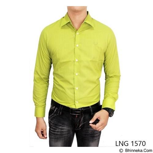 GUDANG FASHION Mens Slim Fit Formal ShirtsSize L [LNG 1570-L] - Green Stabillo - Kemeja Lengan Panjang Pria
