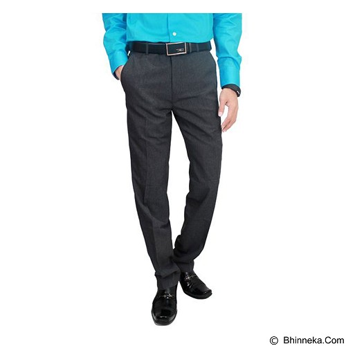 GUDANG FASHION Mens Slim Fit Formal Trousers Size 32 [CLN 875] - Grey - Celana Panjang Pria