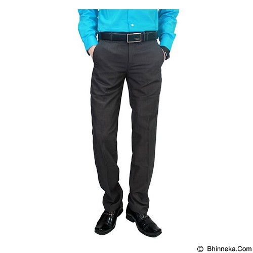 GUDANG FASHION Mens Slim Fit Smart Suit Trousers Size 35 [CLN 874] - Grey - Celana Panjang Pria