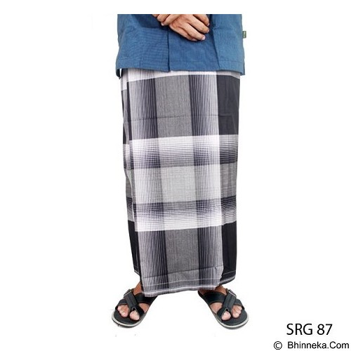GUDANG FASHION Sarung [SRG 87-A] - Black White - Sarung