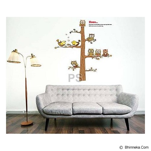 HANA WALLSTICKER Brown Owl Ws 60x90cm - Wall Art / Hiasan Dinding
