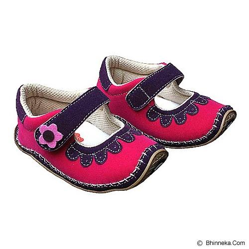 HAPPY BABY Sepatu Bayi Sol Rajut Size 21 [SR-1106] - Pink Fanta - Sepatu Anak