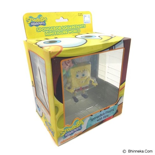 HAPPY TOON SpongeBob Playing with Gary Action Figure [NB-00953] - Movie and Superheroes