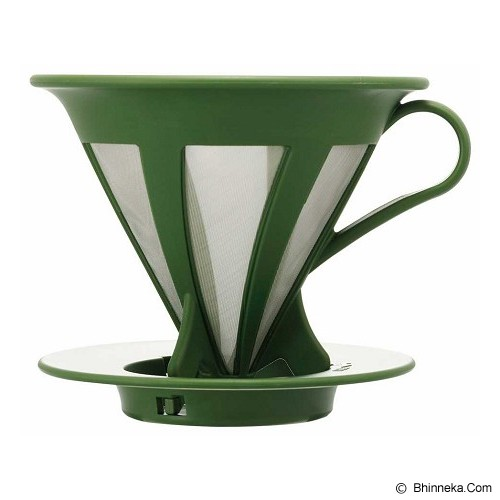 HARIO Cafeor Dripper 02 Olive Green [CFOD-02-OG] - Mesin Kopi Manual