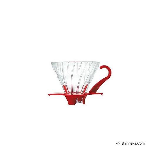 HARIO Dripper V60 [VDG-01R] - Glass Red - Mesin Kopi Manual