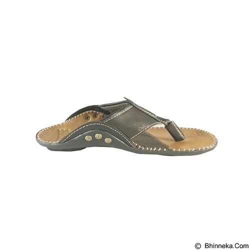 HARLEY DAVIDSON Sandal Casual Pria Size 38 [FTP S-32] - Dark Brown - Sandal Casual Pria