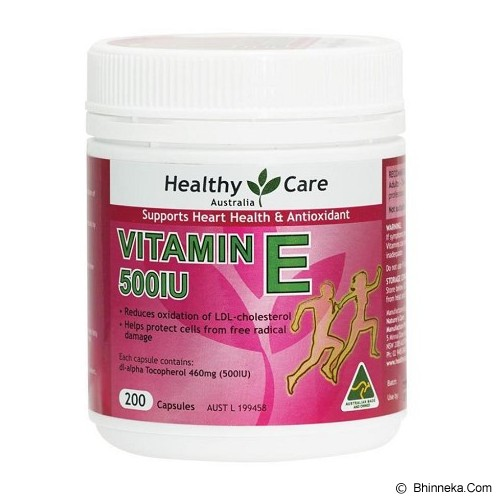HEALTHY CARE Vitamin E 500IU 200 Caps [HCV500IUE200C] - Suplement Kesehatan Kulit
