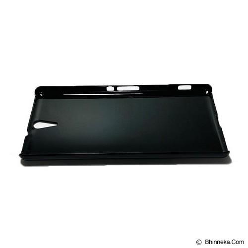 HEAVENCASE Sony Xperia C5 Ultra/C5 Ultra Dual Hard Case Motif Kayu Chevron 02 - Black - Casing Handphone / Case