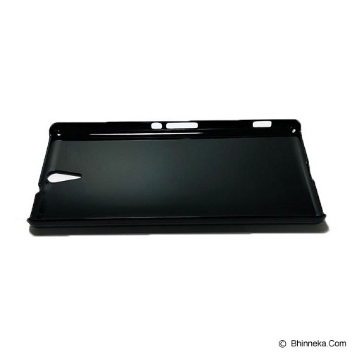 HEAVENCASE Sony Xperia C5 Ultra/C5 Ultra Dual Hard Case Motif Kayu Chevron 23 - Black - Casing Handphone / Case