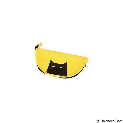 HENVANMEDIA Black Cat Pattern Design - Yellow (Merchant) - Tempat Pensil