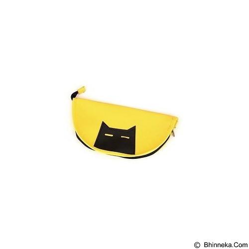 HENVANMEDIA Black Cat Pattern Design - Yellow (Merchant) - Tempat Pensil