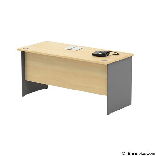 HIGH POINT Kozy Mercury Main Desk + High Fixed Pedestal [KOD1034-KMB1137] - Meja Kantor