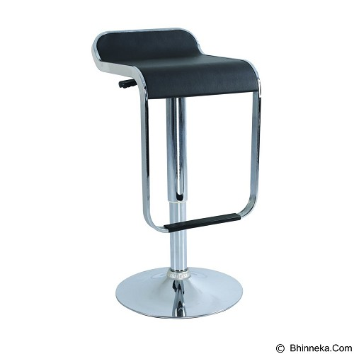 HIGH POINT Kursi Bar Stool [BS-019A] - Black - Kursi Kantor
