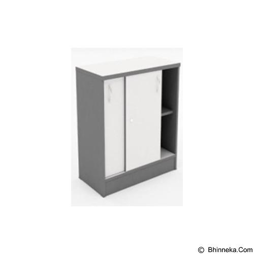 HIGH POINT Lemari Arsip Pendek Pintu Slide [SLG17975] - Grey - Filing Cabinet / Lemari Arsip
