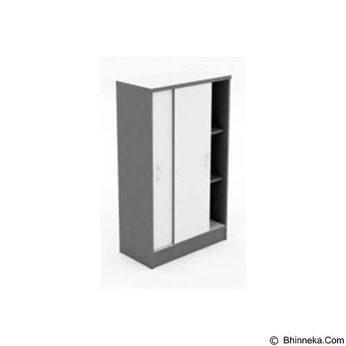 HIGH POINT Lemari Arsip Tinggi Pintu Slide [SLG17912] - Grey - Filing Cabinet / Lemari Arsip