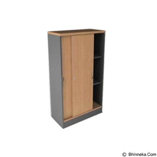 HIGH POINT Lemari Arsip Tinggi Pintu Slide [SLN17912] - Cappucino - Filing Cabinet / Lemari Arsip