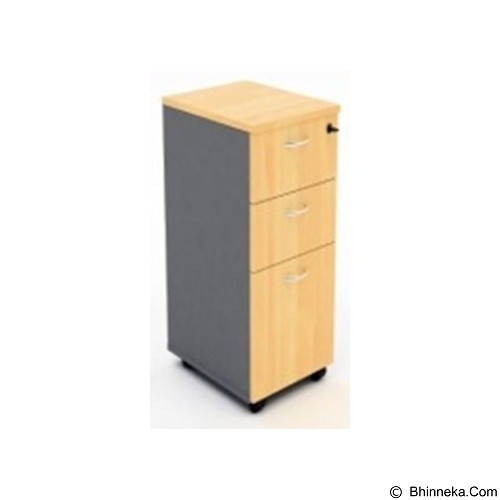 HIGH POINT Mobile Pedestal 2 Drawer + Filling [MBO14070] - Oxford Cherry - Drawer