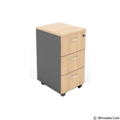 HIGH POINT Mobile Pedestal 3 Drawer [MBN14050] - Cappucino - Drawer
