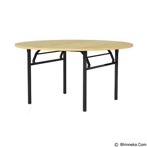 HIGH POINT Monza Banquet Table Bulat 150 x 75cm [BTO1515O] - Oxford Cherry - Meja Restoran