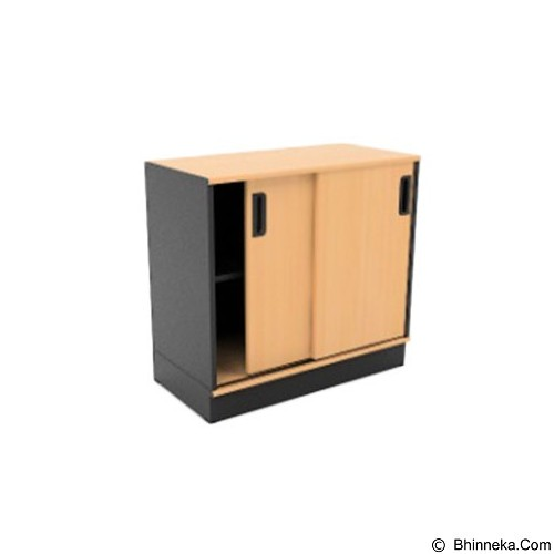 HIGH POINT One Low Sliding Door Cabinet with Base [ST332B] - Filing Cabinet / Lemari Arsip