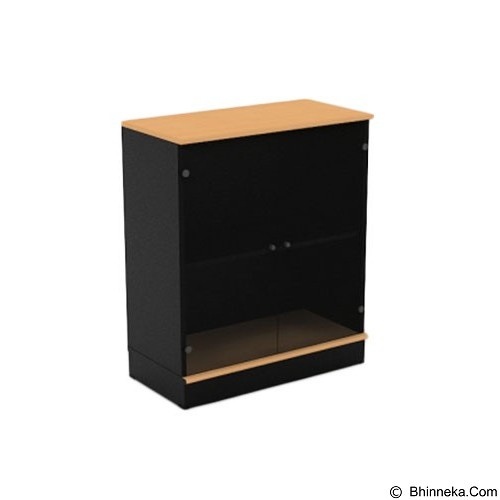 HIGH POINT One Medium Glass Door Cabinet with Base [ST373] - Filing Cabinet / Lemari Arsip