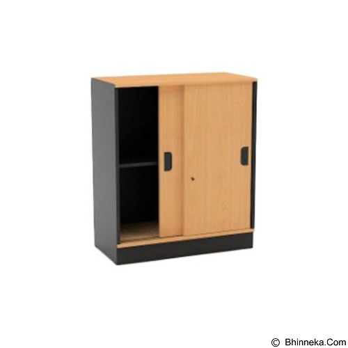 HIGH POINT One Medium Sliding Door Cabinet with Base [ST372] - Filing Cabinet / Lemari Arsip