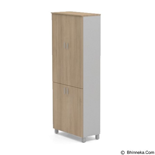 HIGH POINT Six Lemari Arsip Wardrobe pintu panel [ST6101-00-8021-68] - Cappucino