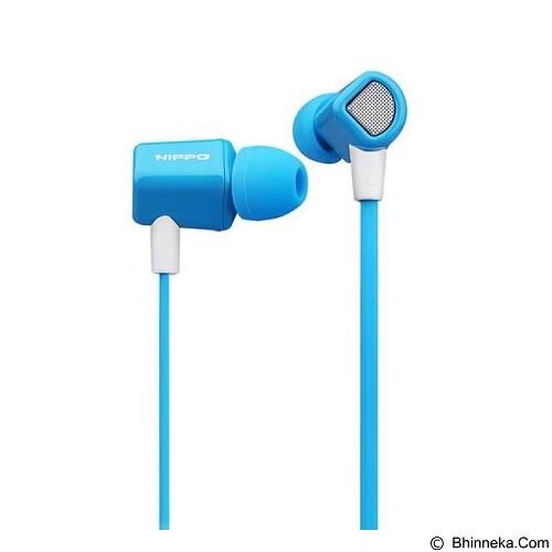 HIPPO Handsfree [HF 010] - Blue (Merchant) - Earphone Ear Monitor / Iem