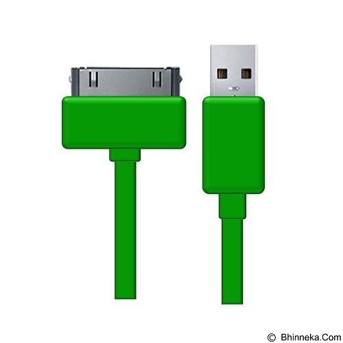 HIPPO Kabel Caby iPhone 4 100CM - Green (Merchant) - Cable / Connector Usb