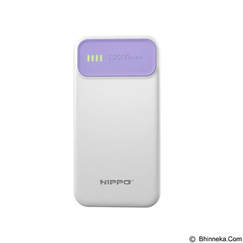 HIPPO Power Bank Atlas 12000 mAh Value Pack - Purple - Portable Charger / Power Bank