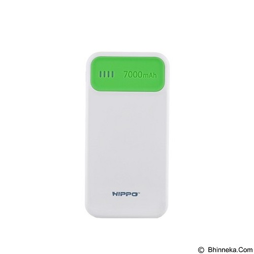 HIPPO Power Bank Atlas 7000 mAh Simple Pack - Green - Portable Charger / Power Bank