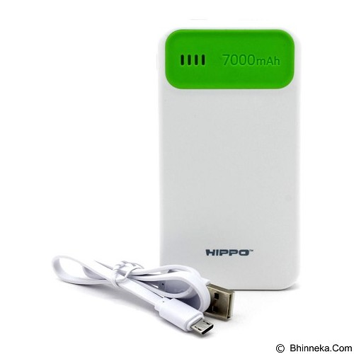 HIPPO Power Bank Atlas Mini 7000mAh Value Pack - Green (Merchant) - Portable Charger / Power Bank